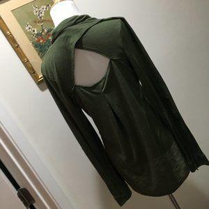 Olive Belle Du Jour Cut out Back Shirt